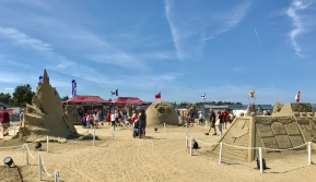 The sand sculpture competition.