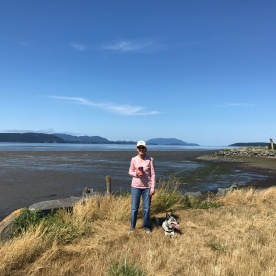 Walking Roo at Samish Flats