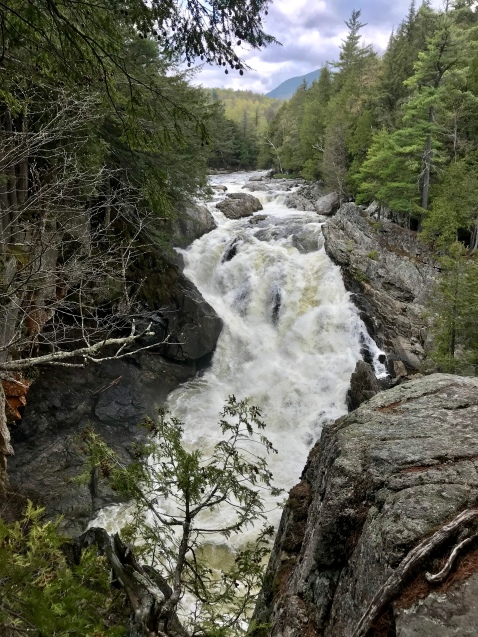 Waterfall along the Ausable River